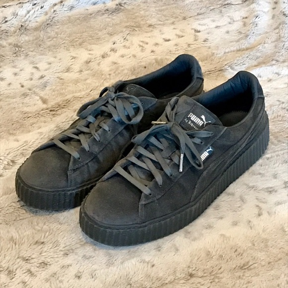 official photos b2078 5712c 🆕Rihanna Fenty x Puma Grey Suede Creepers Mens 12